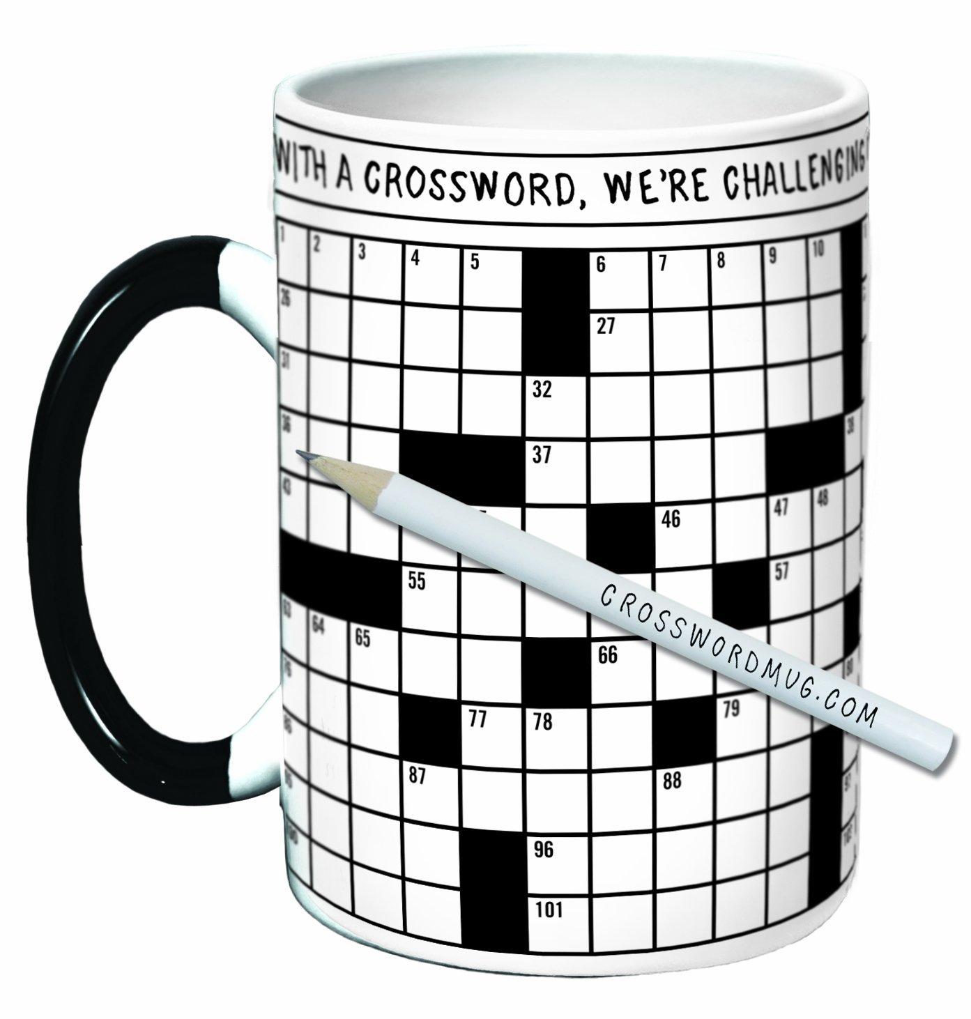 crossword puzzle mug cooking gizmos. Black Bedroom Furniture Sets. Home Design Ideas
