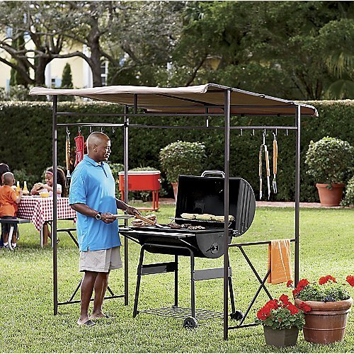 grill gazebo grill your food in rain or hot sun cooking gizmos. Black Bedroom Furniture Sets. Home Design Ideas