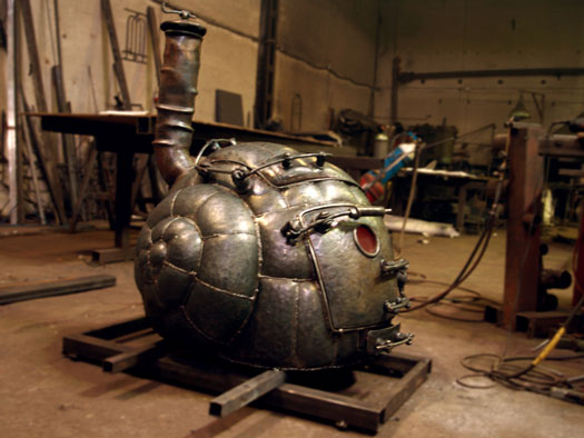 Steampunk Snail Stove Cooking Gizmos