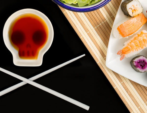 Skull Soy Sauce Dish Cooking Gizmos
