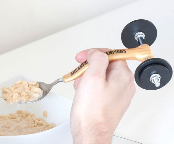 Weightlifting Spoon For Breakfast Of Champions Cooking