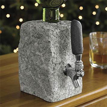 Cobbled-Granite-Booze-Dispenser