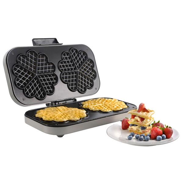 vonshef double waffle maker cooking gizmos. Black Bedroom Furniture Sets. Home Design Ideas
