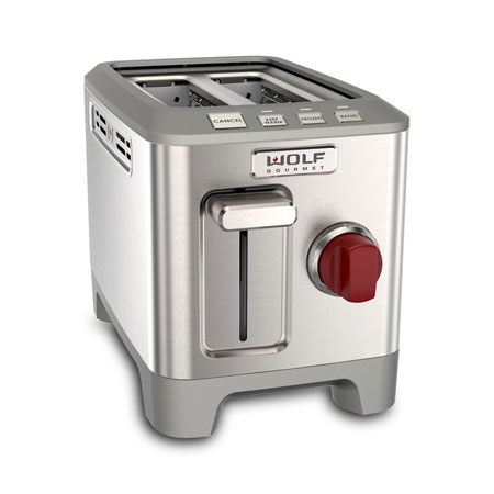 Wolf Gourmet 2 Slice Toaster W Wide Bread Slots Cooking