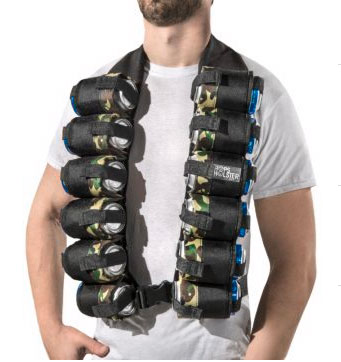 Beer Bandolier Holds 12 Cans Of Beer Cooking Gizmos