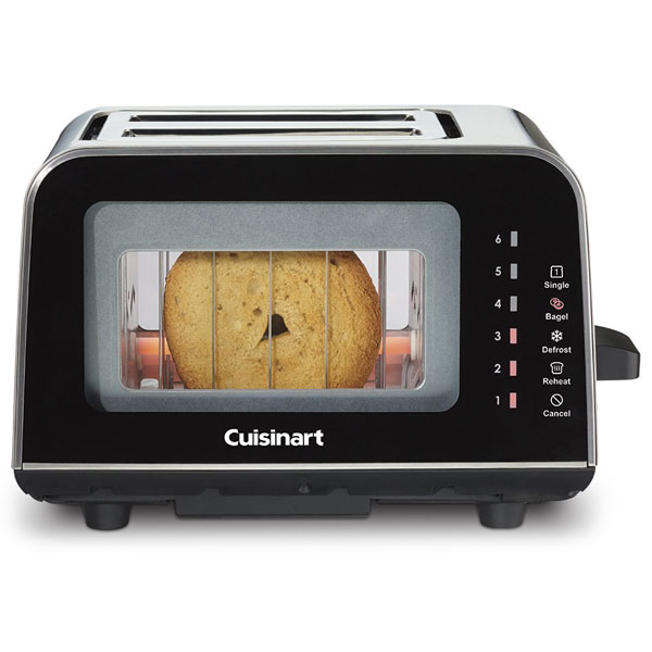 cuisinart cpt 3000 viewpro glass 2 slice toaster cooking. Black Bedroom Furniture Sets. Home Design Ideas