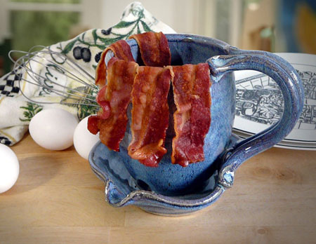 how to cook thick cut bacon in the microwave