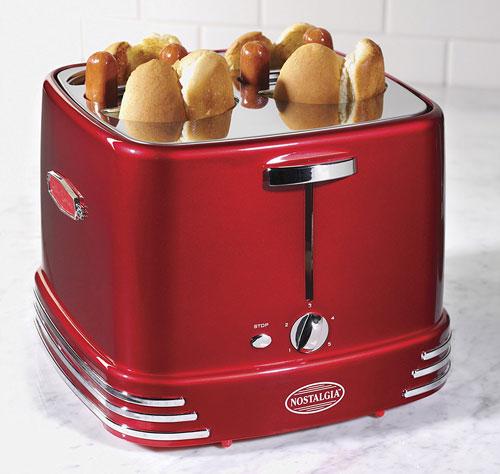 Nostalgia 4 Slot Pop Up Hot Dog Toaster Cooking Gizmos