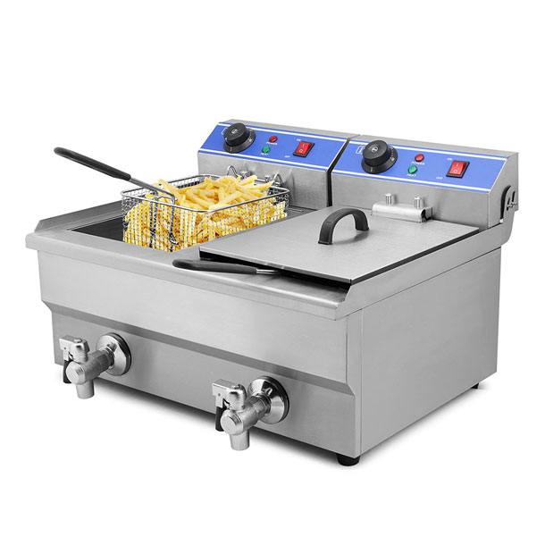 Mophorn Commercial Deep Fryer With Dual Tank Cooking Gizmos