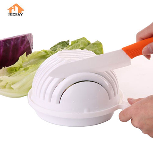 Nicpay Salad Cutter Bowl Cooking Gizmos