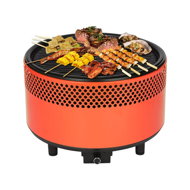 Kbabe Portable Charcoal Grill With Battery Powered Fan