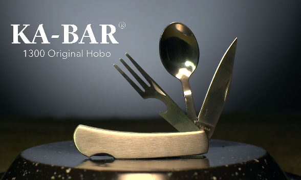 Ka Bar 1300 Hobo Replaces A Knife Fork Spoon Cooking