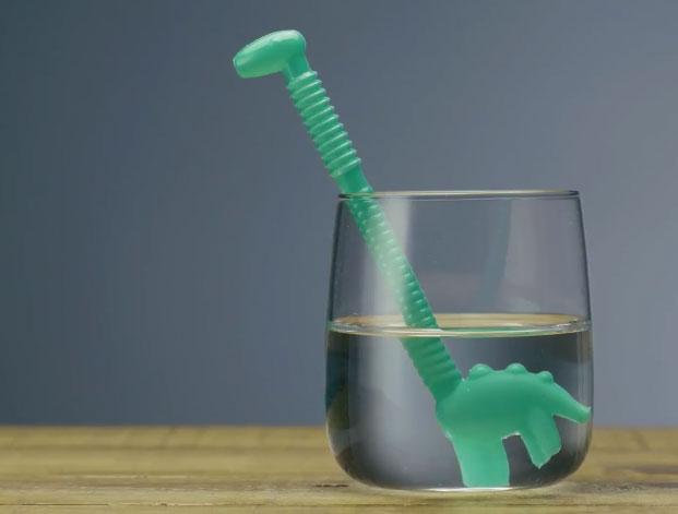 Dino Straws Dinosaur Shaped Drinking Straws Cooking Gizmos