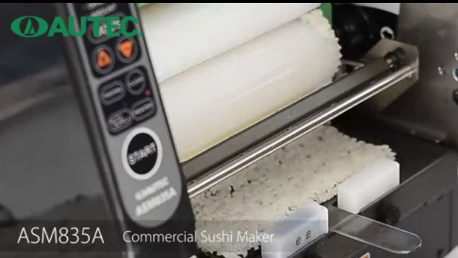 Asm835a Sushi Machine Rice Sheet Maker Cooking Gizmos