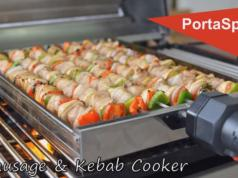 Kebab Rotisserie Grill For Homemade Kebabs Cooking Gizmos