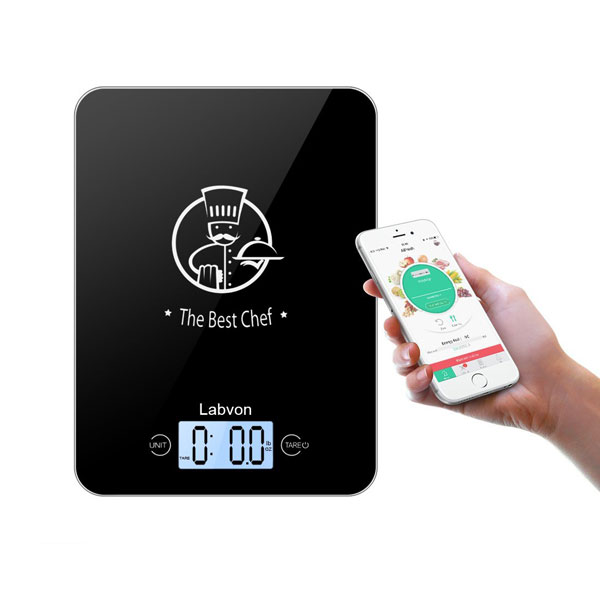 Labvon kitchen scale with bluetooth cooking gizmos for Bluetooth kitchen scale