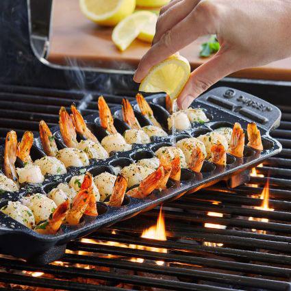 Sur La Table Cast Iron Shrimp Pan Cooking Gizmos