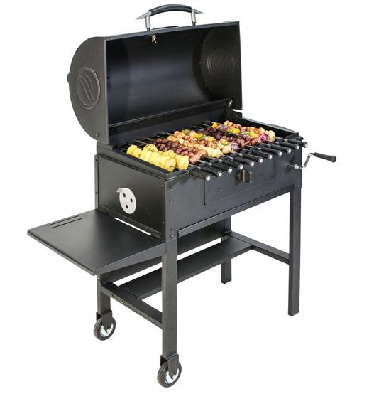 Blackstone Kabob Charcoal Grill And Smoker For Shish Kebabs Cooking Gizmos