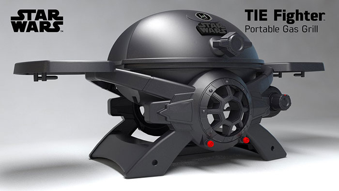 Star Wars Tie Fighter Gas Grill Cooking Gizmos
