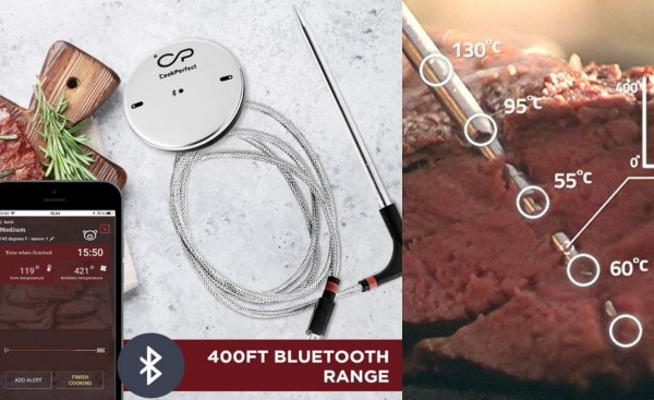 Oven And Grill Cooking 1 Probe Included For Bbq Cookperfect Wireless Meat Thermometer With 400ft Bluetooth Range Automatic Core And Air Temperature Readings Formtech Inc Com