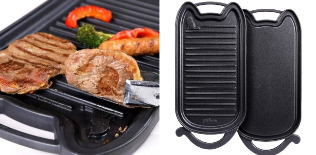 Prime Enameled Cast Iron Stovetop Grill/Griddle